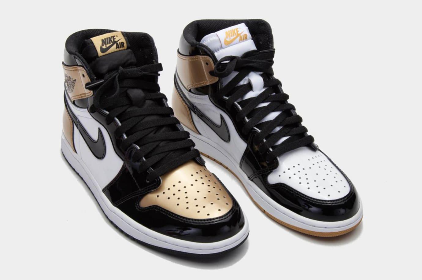 Gold Air Jordan 1 Top Three 1