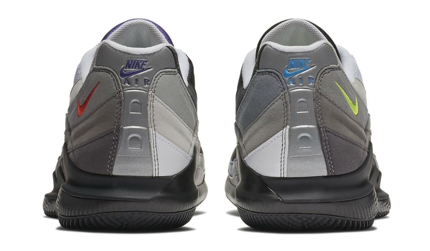 NikeCourt Vapor RF X Air Max 95 Greedy Release Date AO8759-077 Heel