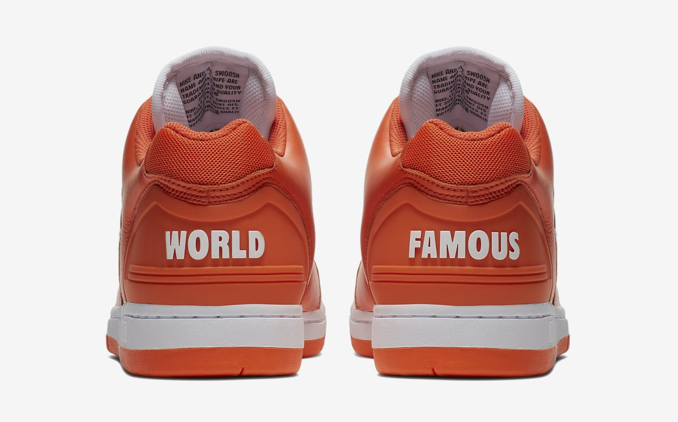 Supreme Nike SB Air Force 2 AA0871-818 Orange Heel