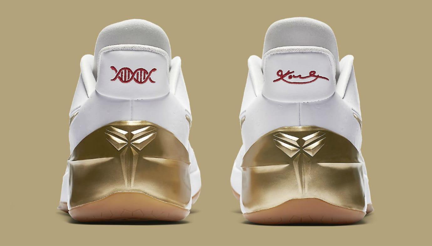 81a1b8c7ccd7 Nike LeBron Soldier 11 White Metallic Gold Black Release Date Heel 852425- 107
