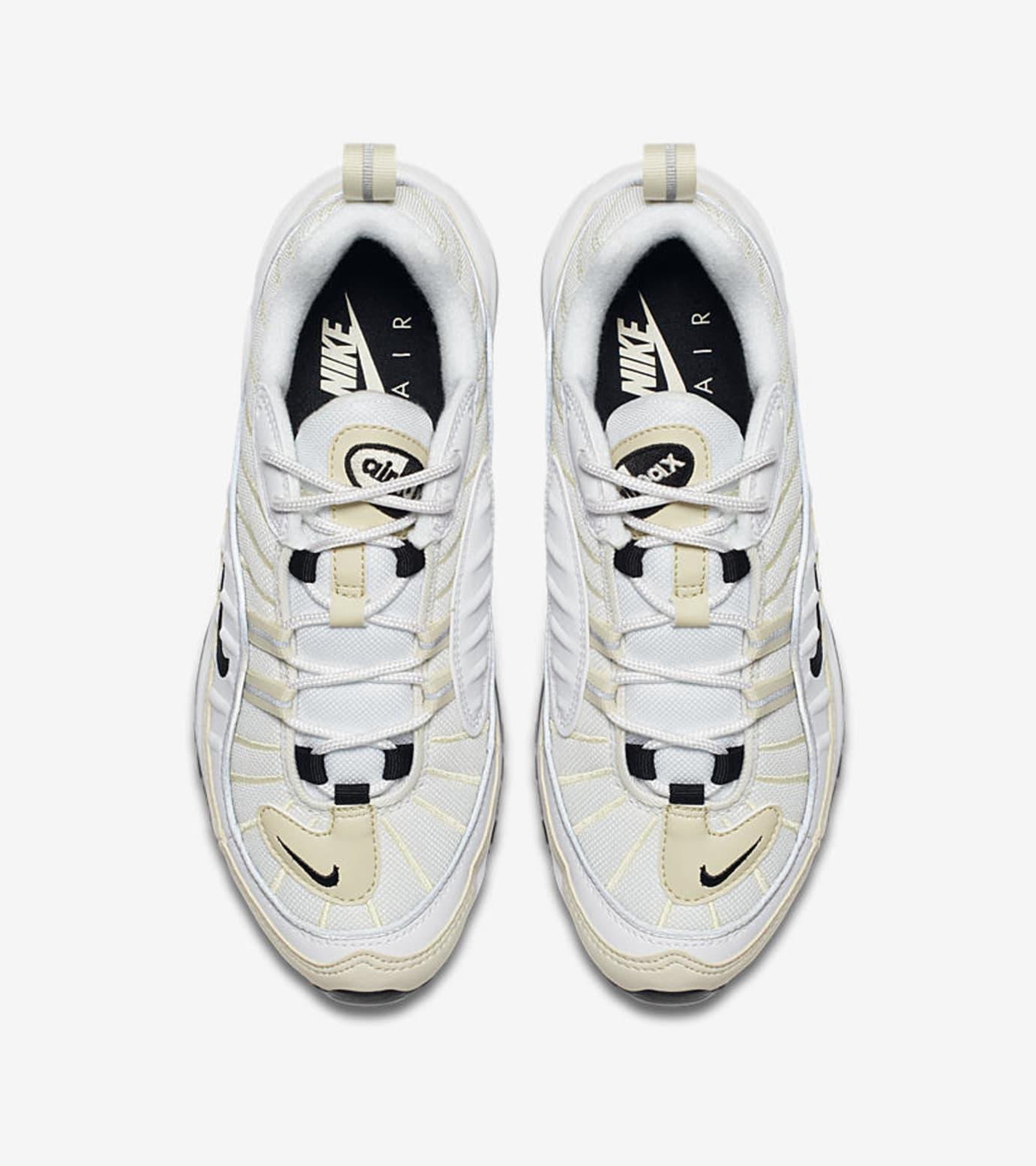 c83c30a71c5716 Image via Nike WMNS Nike Air Max 98  White Black Fossil  AH6799-102 (