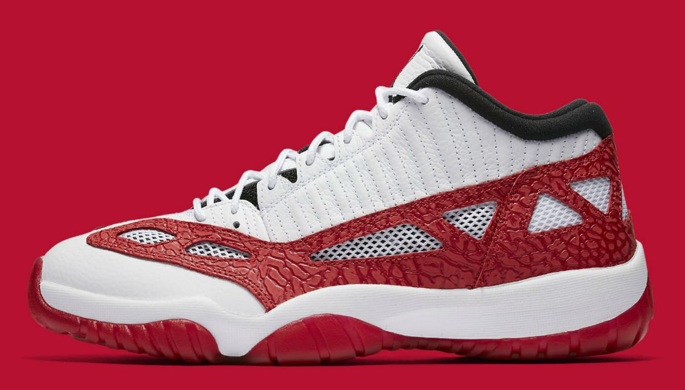 7c3508d29b33 Air Jordan 11 XI Low IE White Gym Red Black Release Date Profile 919712-101