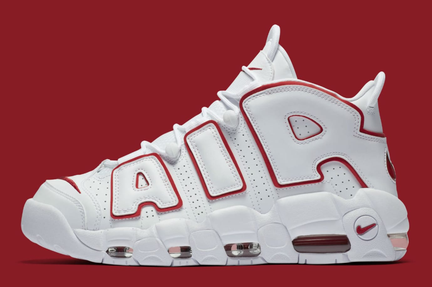 657fc008f5c7 Nike Air More Uptempo White University Red Release Date 921948-102 ...