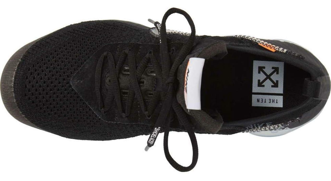 9b6b6108ef00ec Image via Nordstrom Off-White x Nike Air VaporMax Black Release Date AA3831- 002 Top