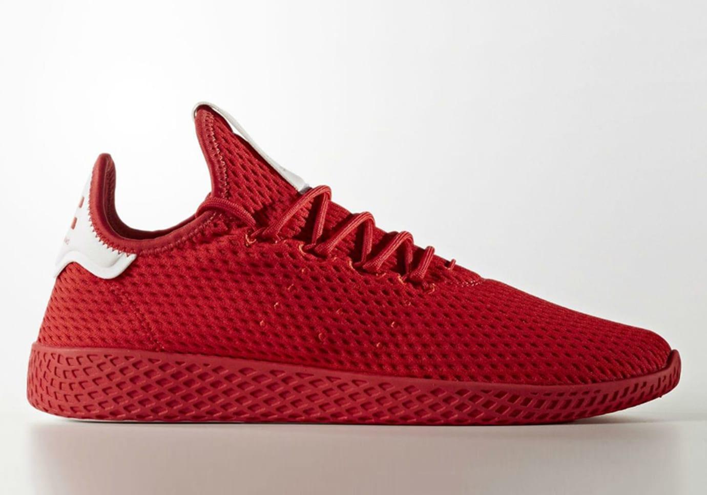 Pharrell Williams x Adidas Hu Tennis Red