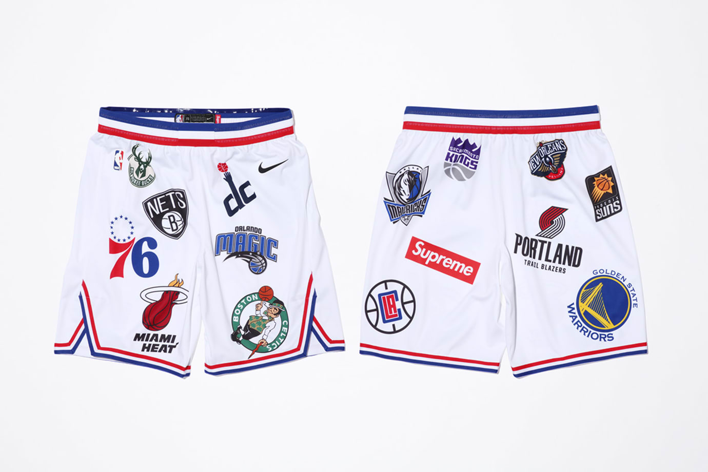 Supreme x Nike x NBA Shorts 'White'