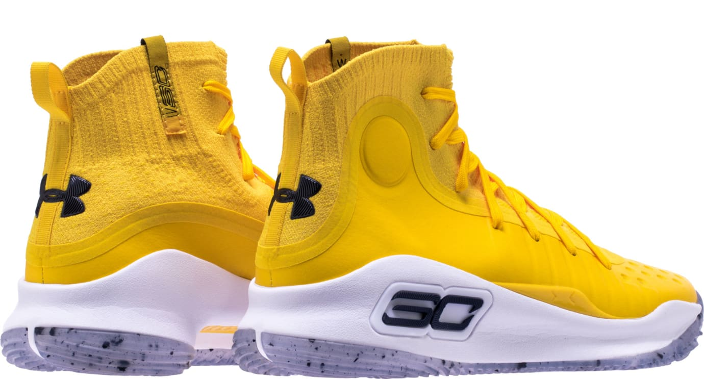 Shoe Palace Under Armour Curry 4 'Yellow/Blue' 1298306-700 (Heel)