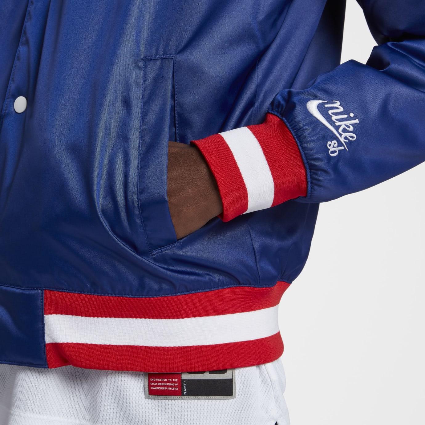 NBA x Nike SB Bomber Jacket (Blue Detail)