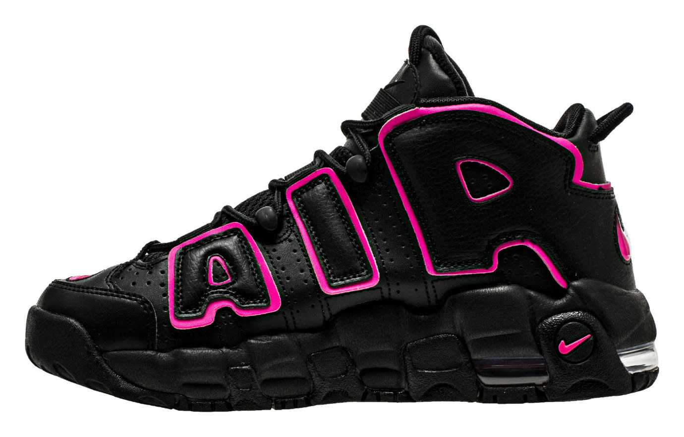 Nike Air More Uptempo Black Pink 415082-003 Medial