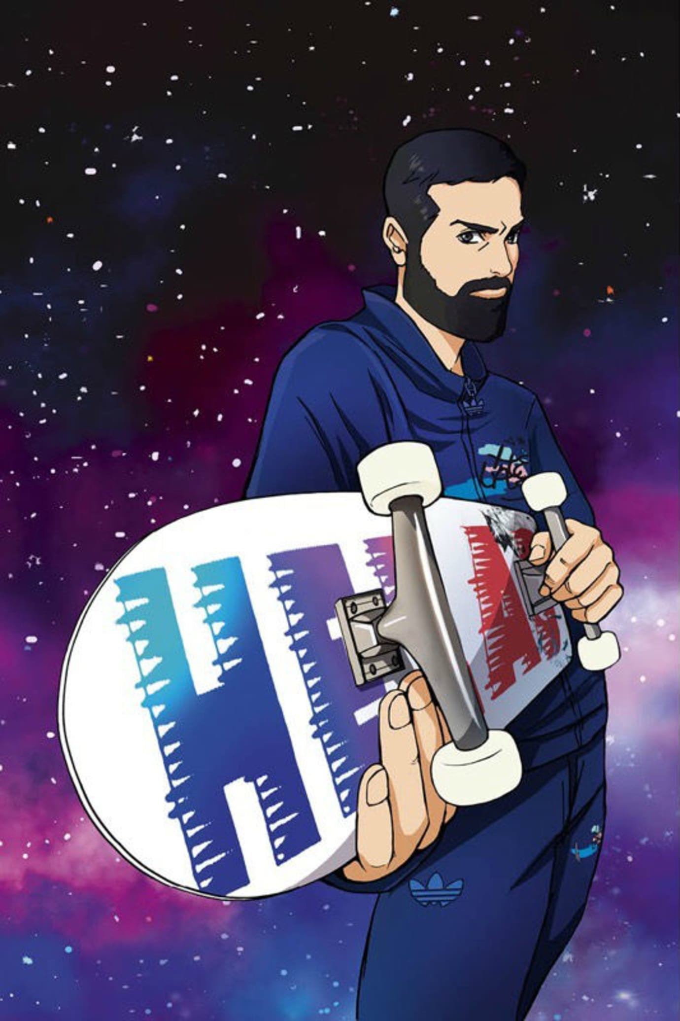 Helas x Adidas Skateboarding Anime Collection Release Date Deck