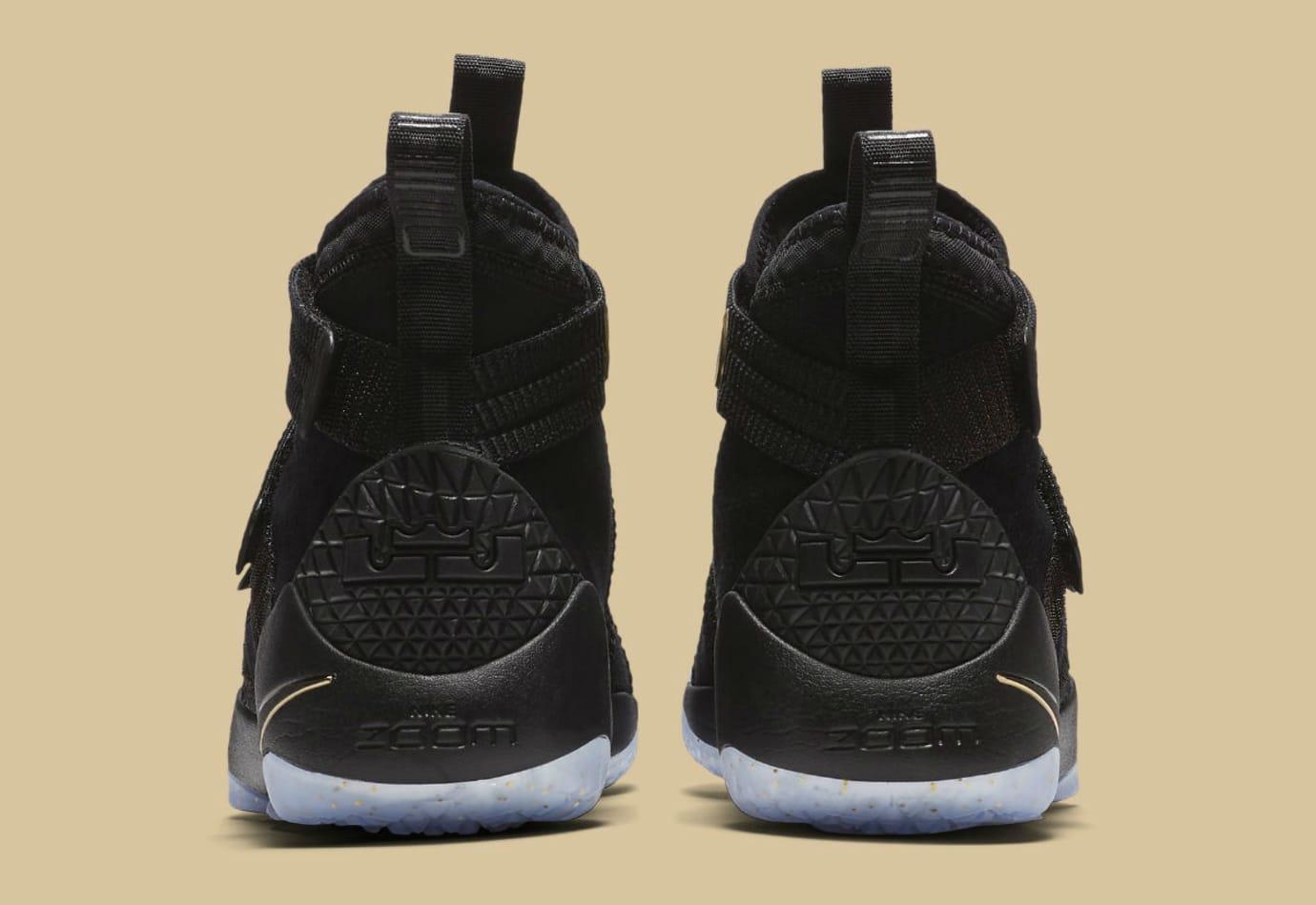 Nike LeBron Soldier 11 SFG Black/Gold Finals Release Date Heel