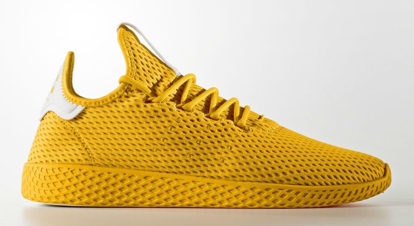 Pharrell x Adidas Tennis HU Yellow Profile