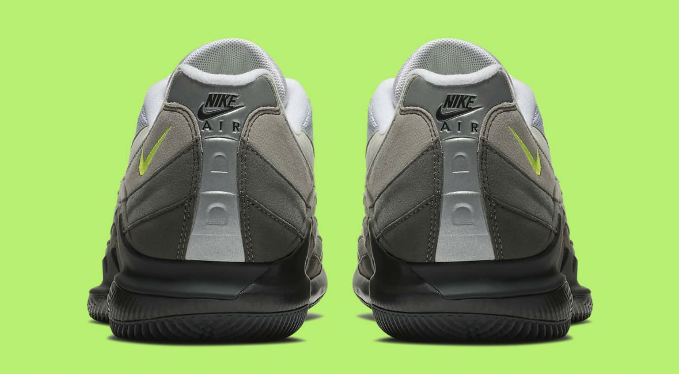 6de576dda14 NikeCourt Vapor RF Air Max 95 Neon Release Date AO8759-078 Heel