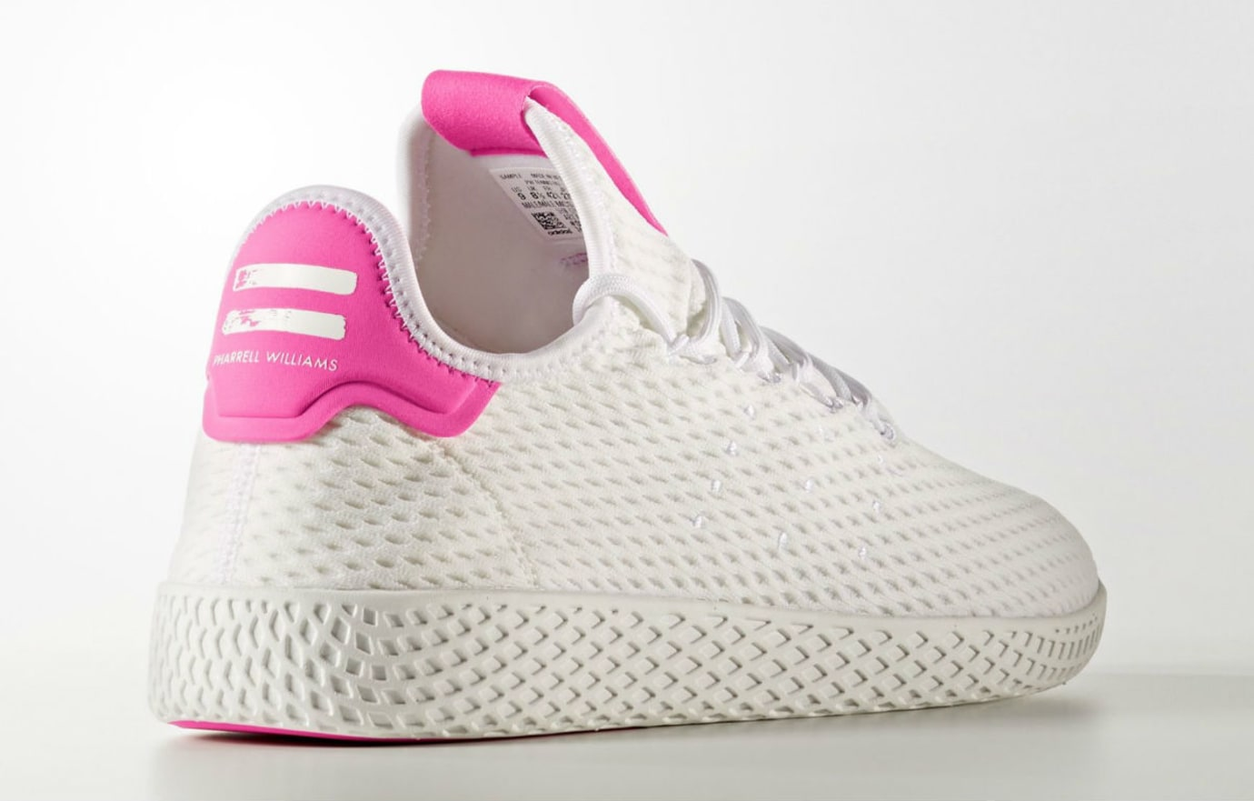 reputable site f4d23 5a0a3 Pharrell x Adidas Tennis Hu Pink Release Date Lateral