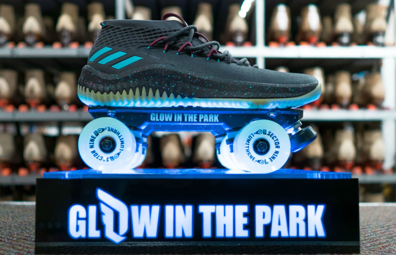 Adidas Dame 4 Glow in the Park Release Date CQ1254 Skates Profile