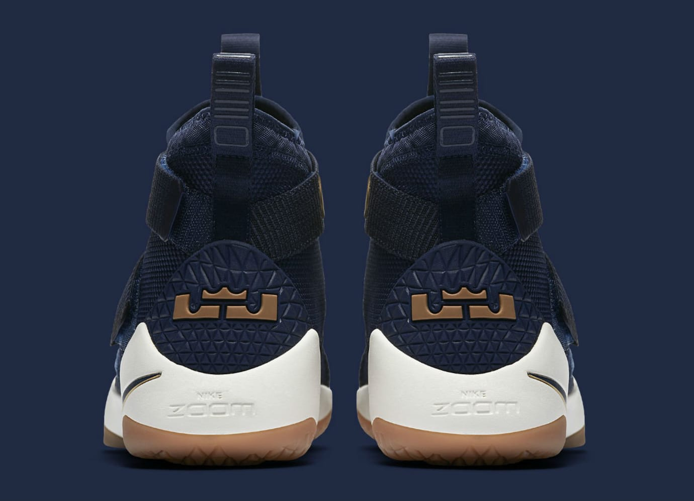 969e93dc211 Nike LeBron Soldier 11 Cavs Navy Release Date Heel 897644-402