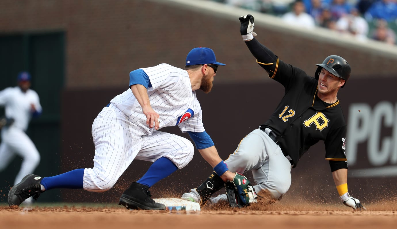 Ben Zobrist Tags Corey Dickerson