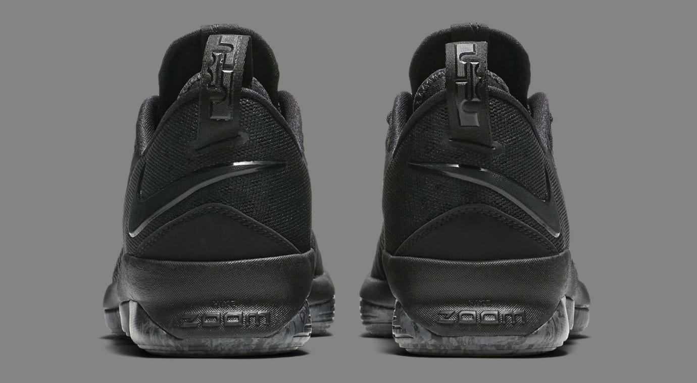 Nike LeBron 14 Low Triple Black Release Date Heel 878635-002