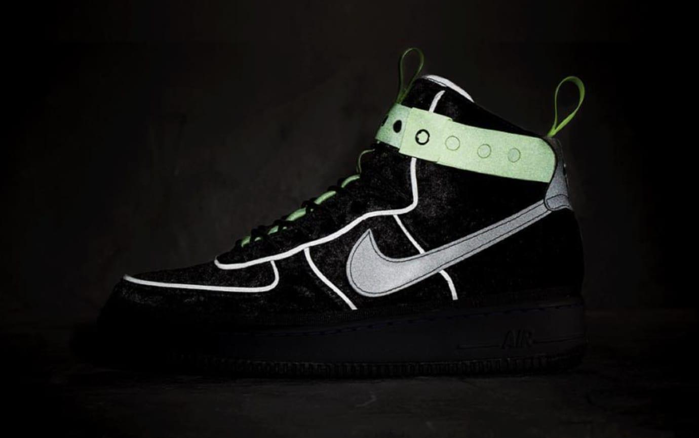 brand new a9d3b 6559d Magic Stick x Nike Air Force 1 High 'Black Velour' Release ...