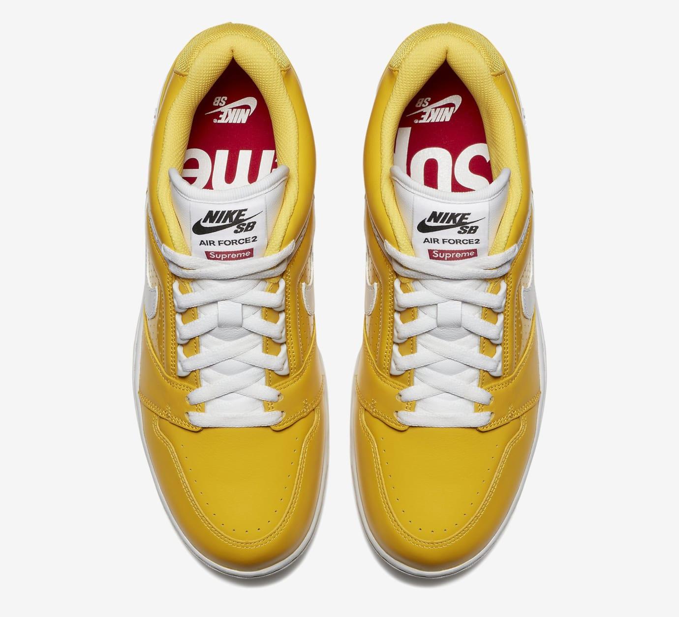 Supreme Nike SB Air Force 2 AA0871-717 Yellow Top