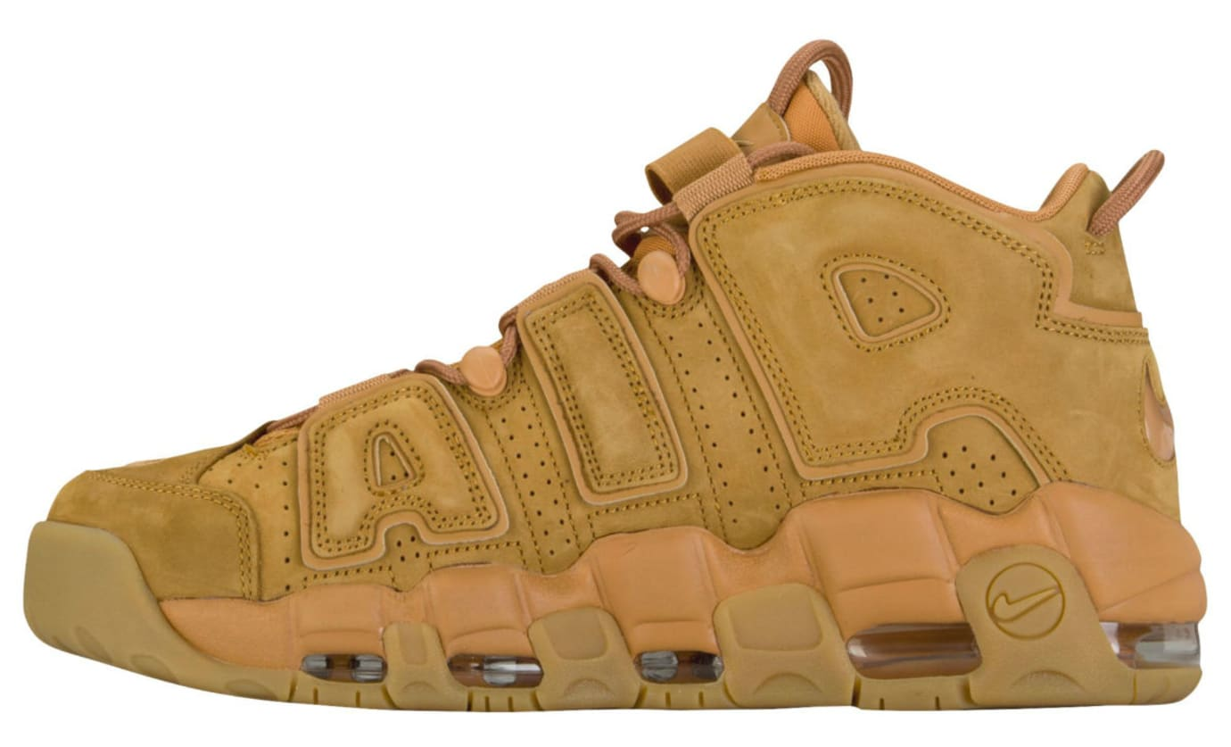 9f83fe8f6e297 Nike Air More Uptempo Wheat Flax Release Date Medial AA4060-200