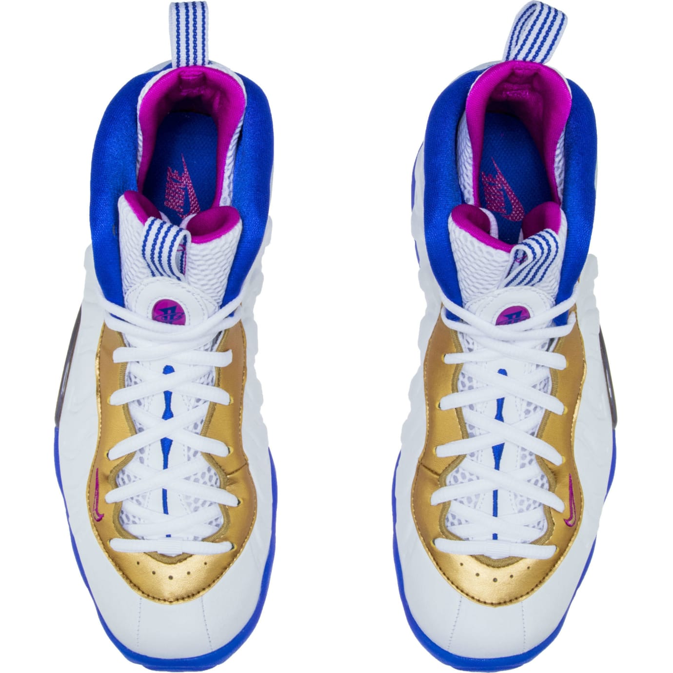 Nike Little Posite One White Fuchsia Blast Racer Blue Metallic Gold Release Date 644791-103 Top