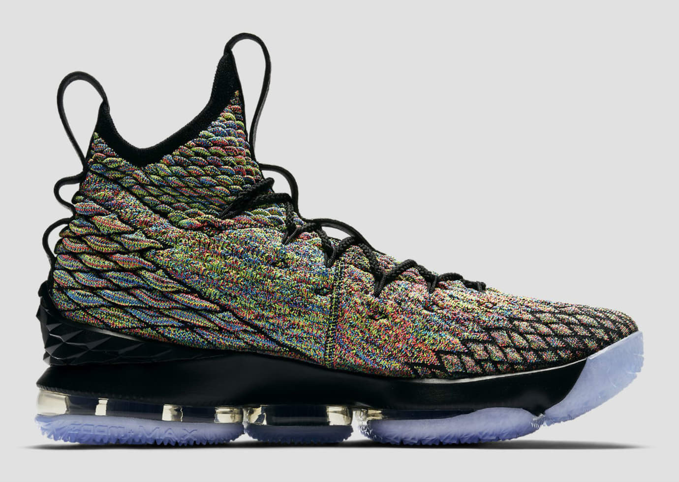 e3f11c40695610 Nike LeBron 15 XV Four Horsemen Black Fruity Pebbles Release Date 897648-901  Medial