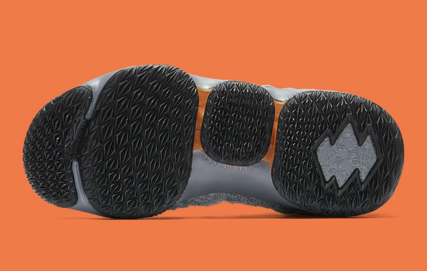 best service 8bd98 d4a03 Nike LeBron 15 GS Black Safety Orange Dark Grey Wolf Grey ...