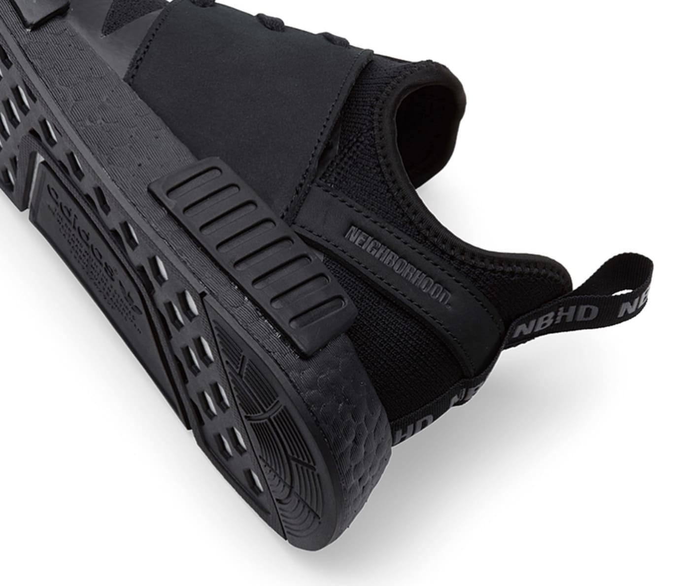 Neighborhood x Adidas NMD_R1 PK 'Triple Black' (Detail 2)