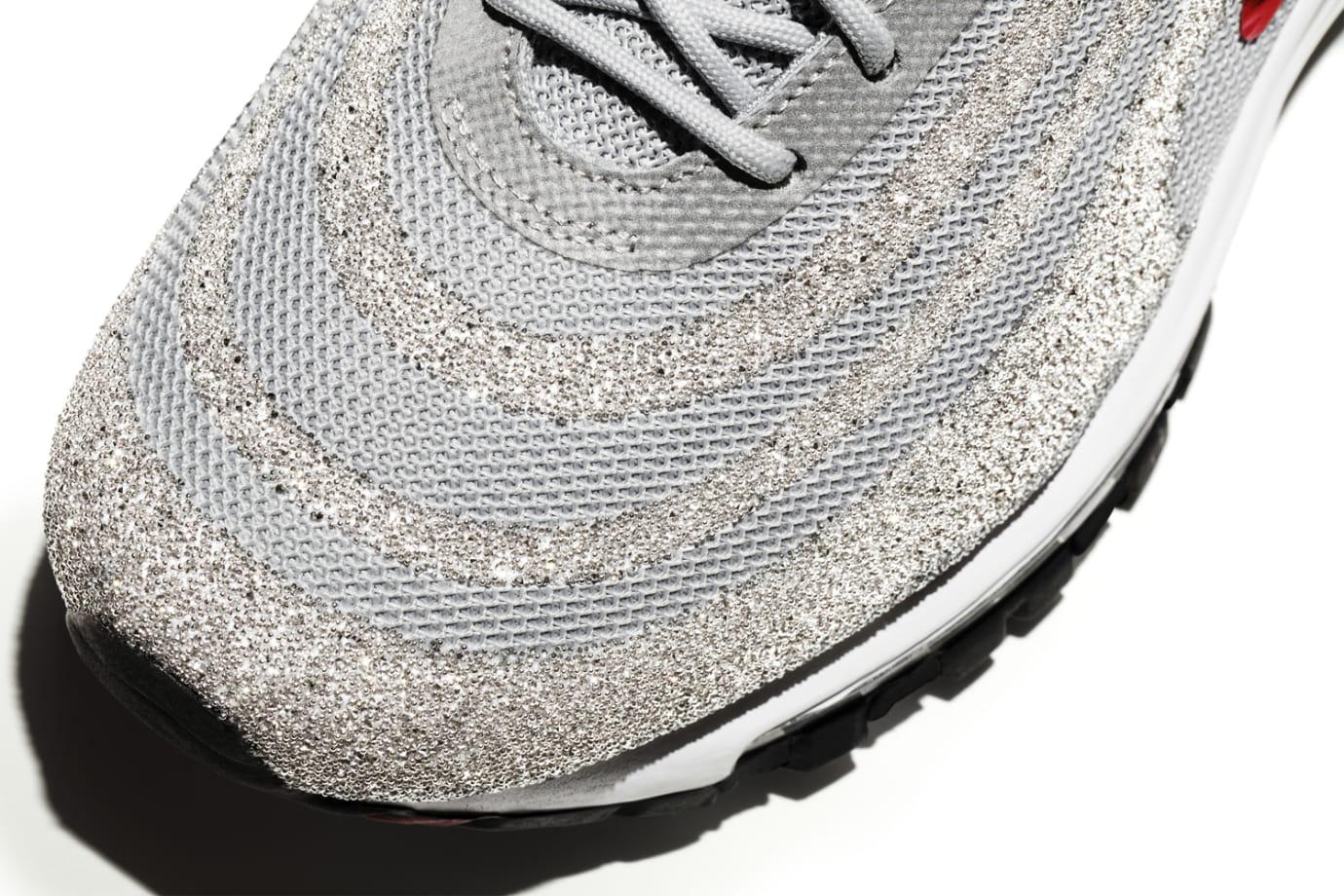 Image via Nike Nike Air Max 97 Swarovski Crystal Silver Toe 4b93af71b4e3