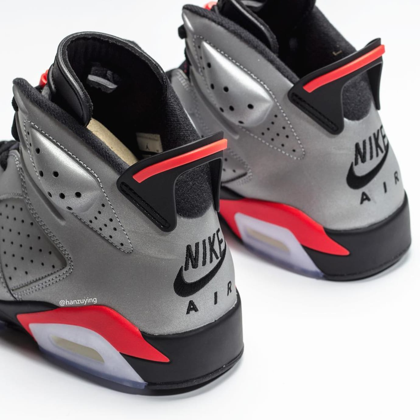 20fe6dabe7e268 Image via Hanzuying · Air Jordan 6 Retro  Reflective Infrared  CI4072-001  Heel