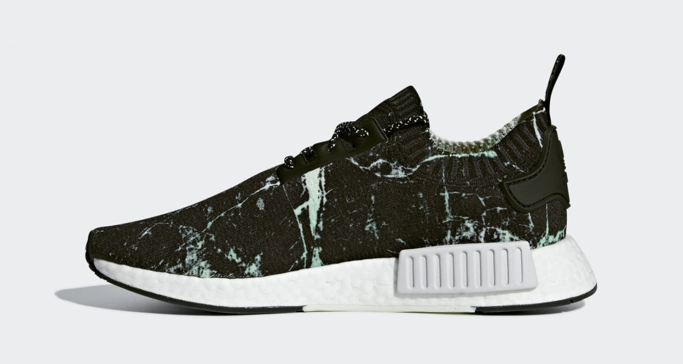 cdc52a4d2e8be2 Adidas NMD R1  Green Marble  Release Date July 27