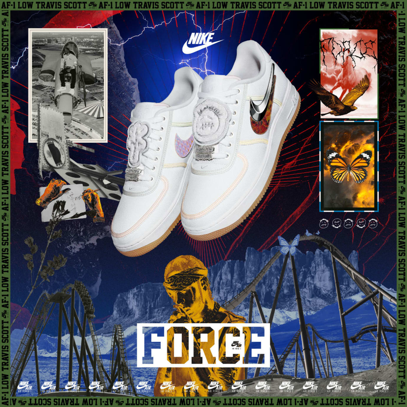 Travis Scott x Nike Air Force 1 Low Poster