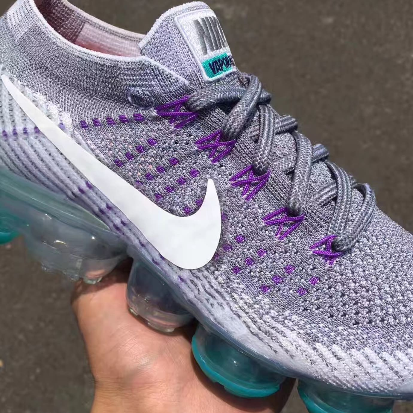 5b475cf1bb5 Nike Air VaporMax Grape Release Date Swoosh