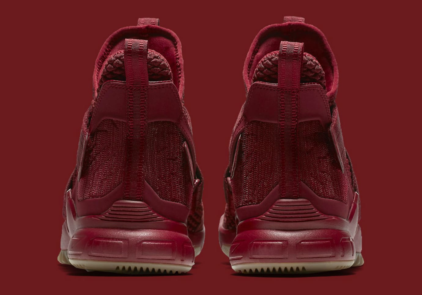 ae451a9e82d84 Image via Nike Nike LeBron Soldier 12 XII Team Red Cavs Release Date  AO4055-600 Heel