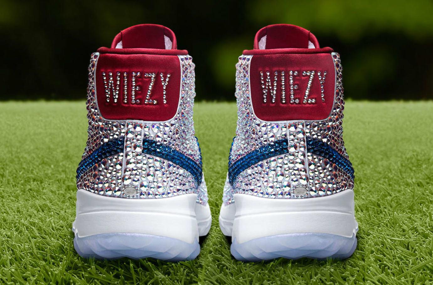 Michelle Wie Swarovski Crystal Nike Blazer Golf Shoes Heel