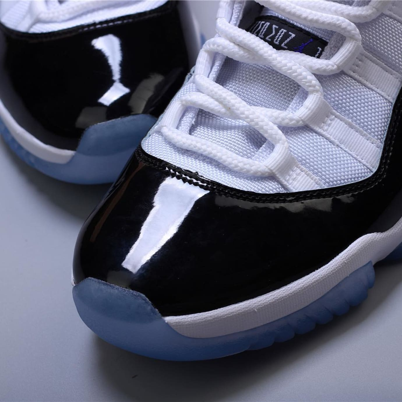 f98d9f325763 Image via hanzuying · Air Jordan 11 XI Concord 2018 Release Date 378037-100  Toebox