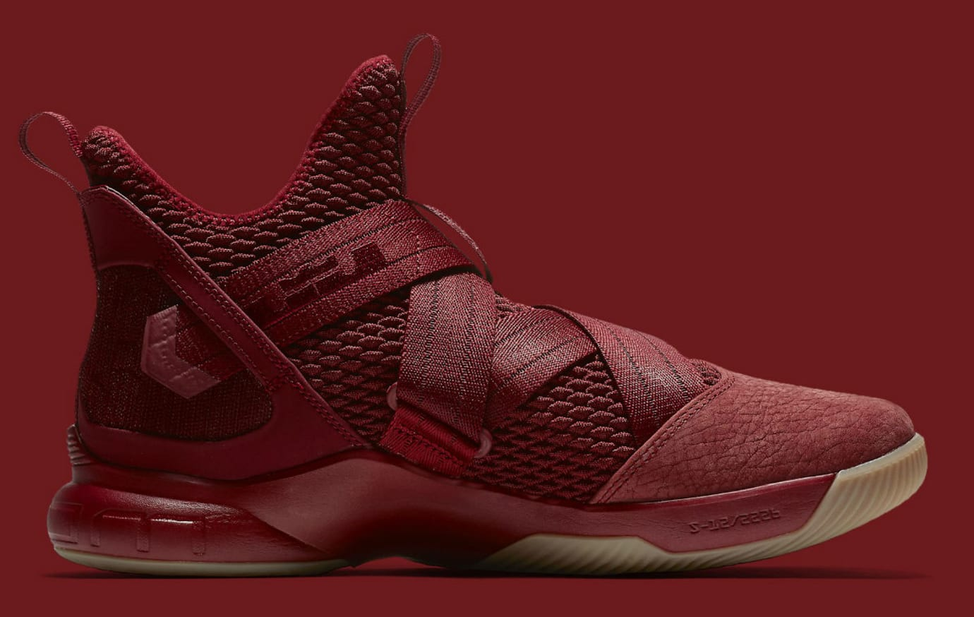 297b195b683 Image via Nike Nike LeBron Soldier 12 XII Team Red Cavs Release Date  AO4055-600 Medial