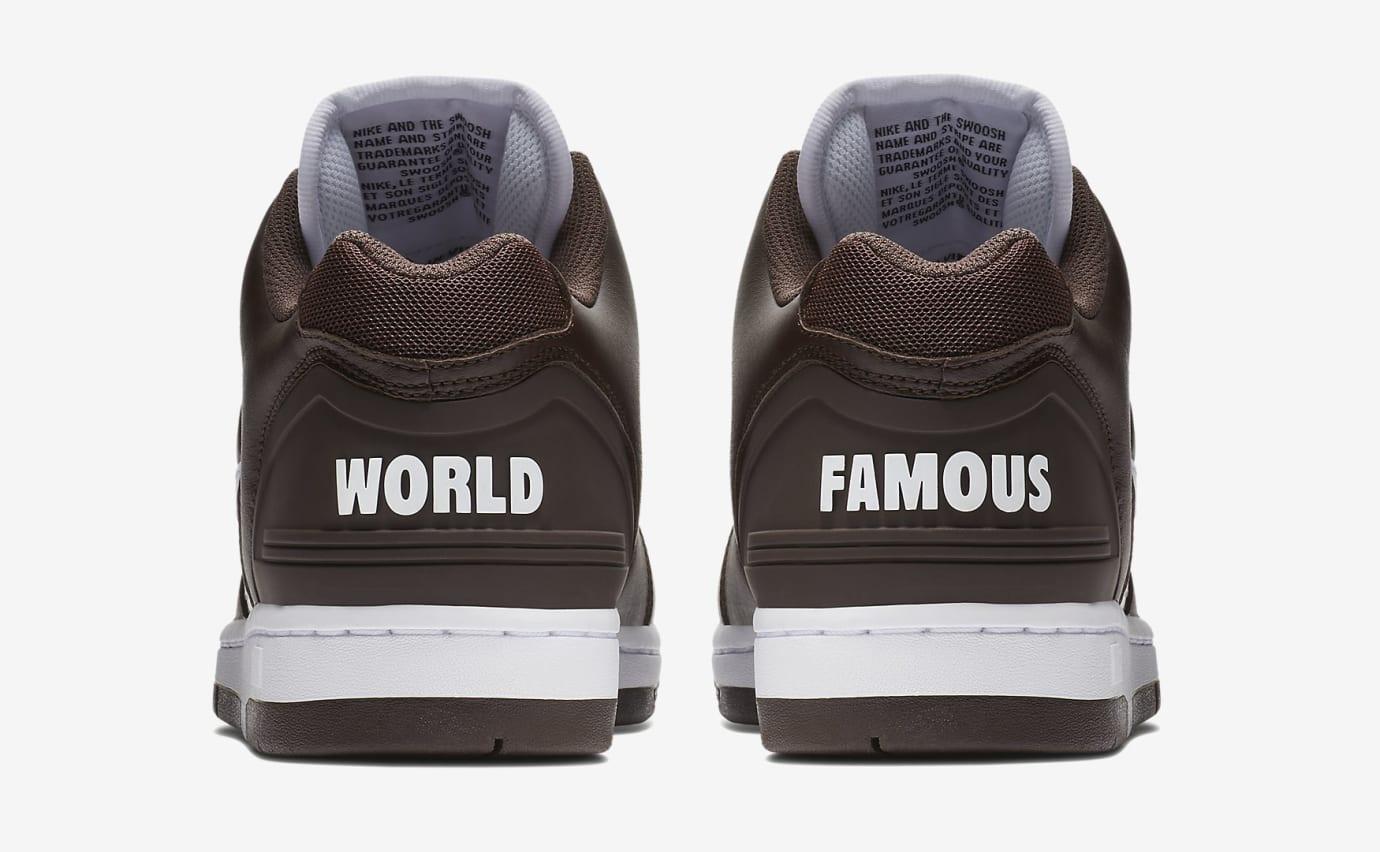 Supreme Nike SB Air Force 2 AA0871-212 Black Heel