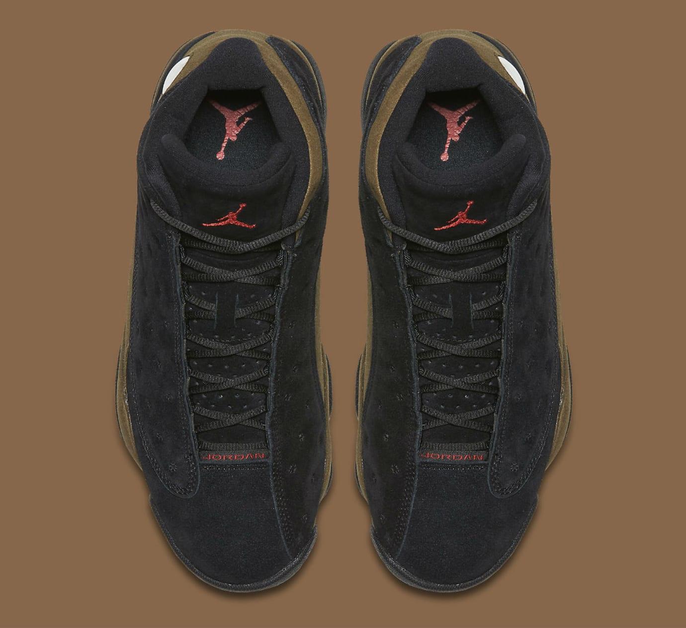 pretty nice e544f 37258 Air Jordan 13 XIII Olive Release Date 414571-006 Top