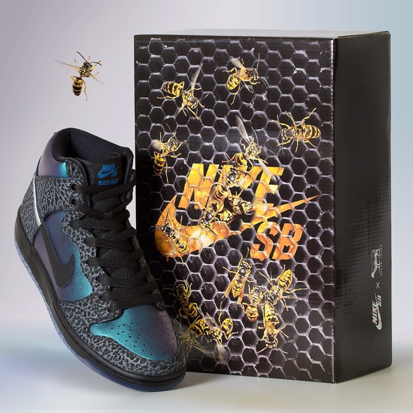Black Sheep x Nike SB Dunk High 'Black Hornet' (Box 1)