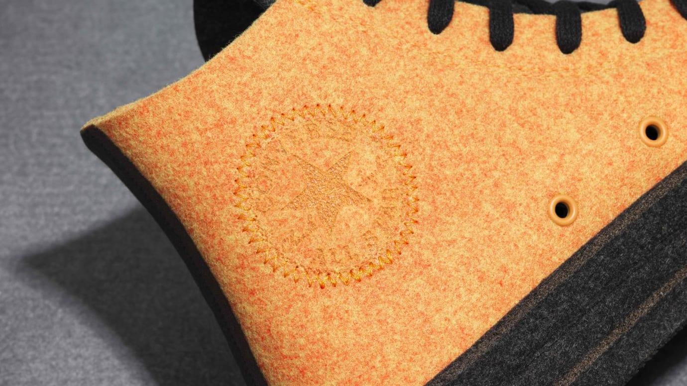JW Anderson x Converse Chuck 70 Felt 'Olive/Orange' (Detail)