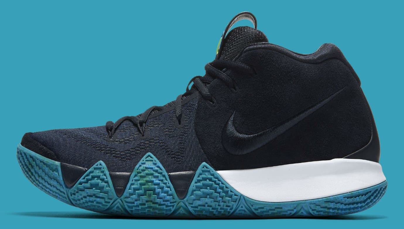 more photos 8a556 cfcf7 Nike Kyrie 4 Dark Obsidian Release Date 943806-401 Profile