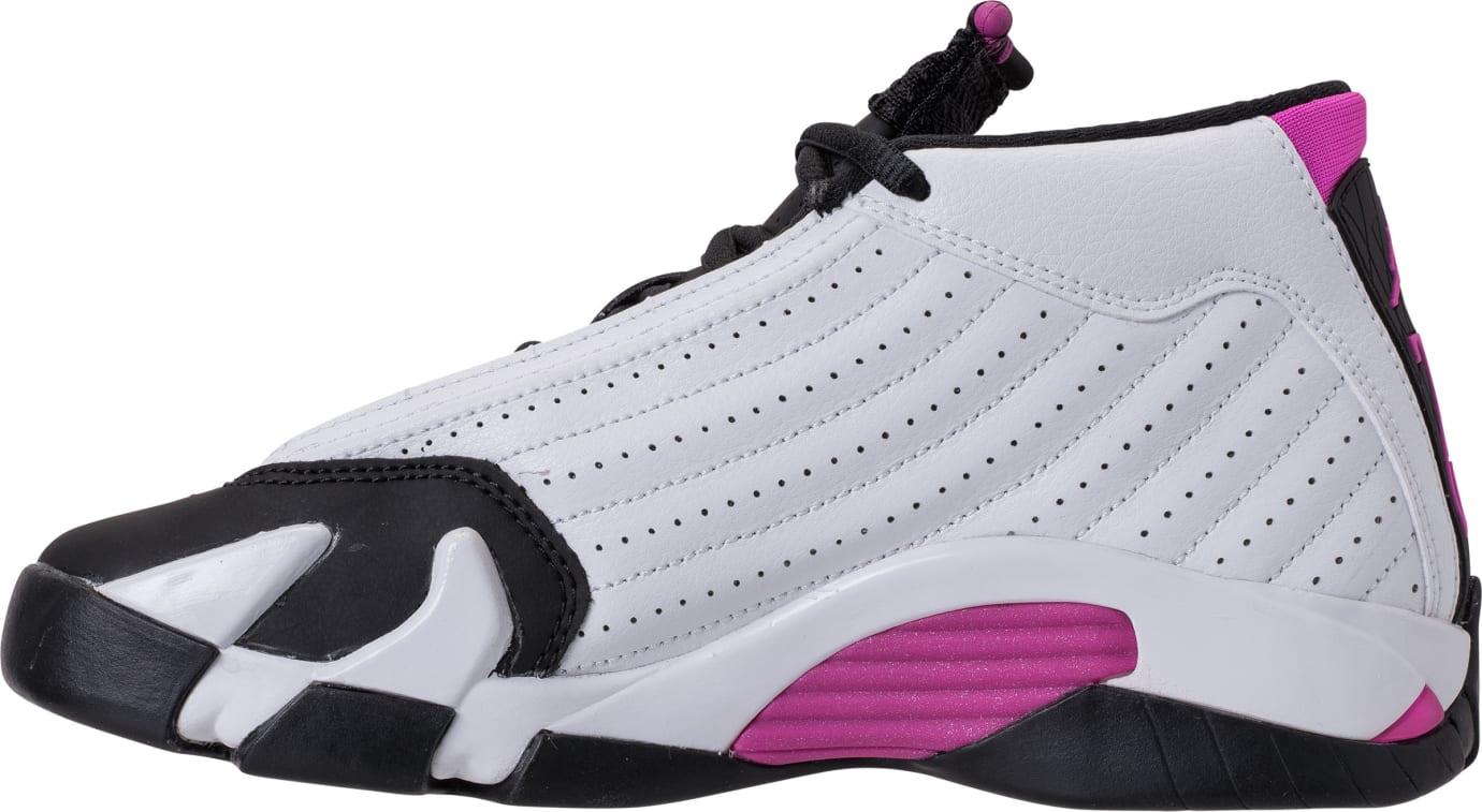 Air Jordan 14 XIV Girls Fuchsia Blast Release Date 654969-110 Medial 13a942195