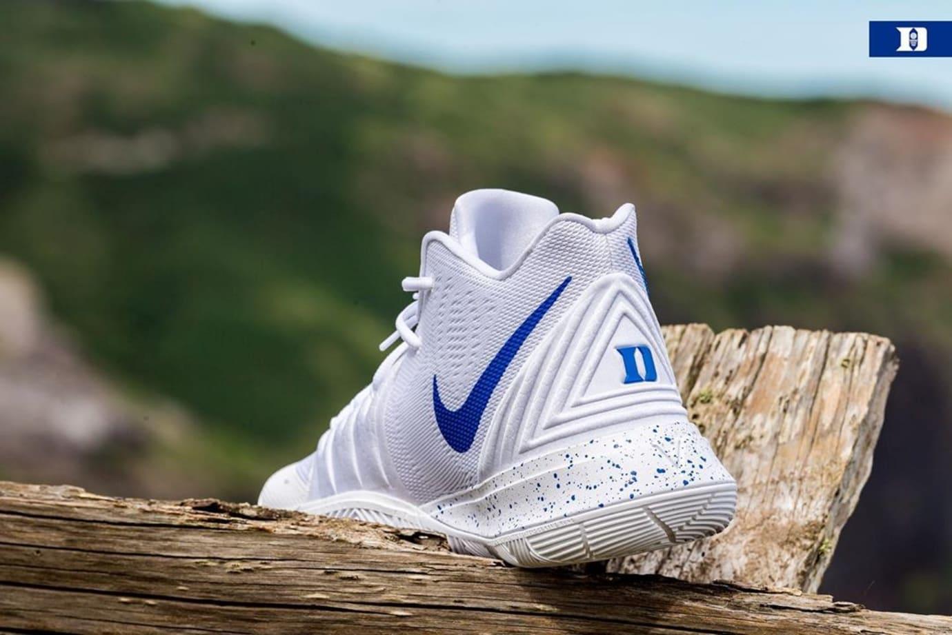 Nike Kyrie 5 'Duke' PE White (Heel)