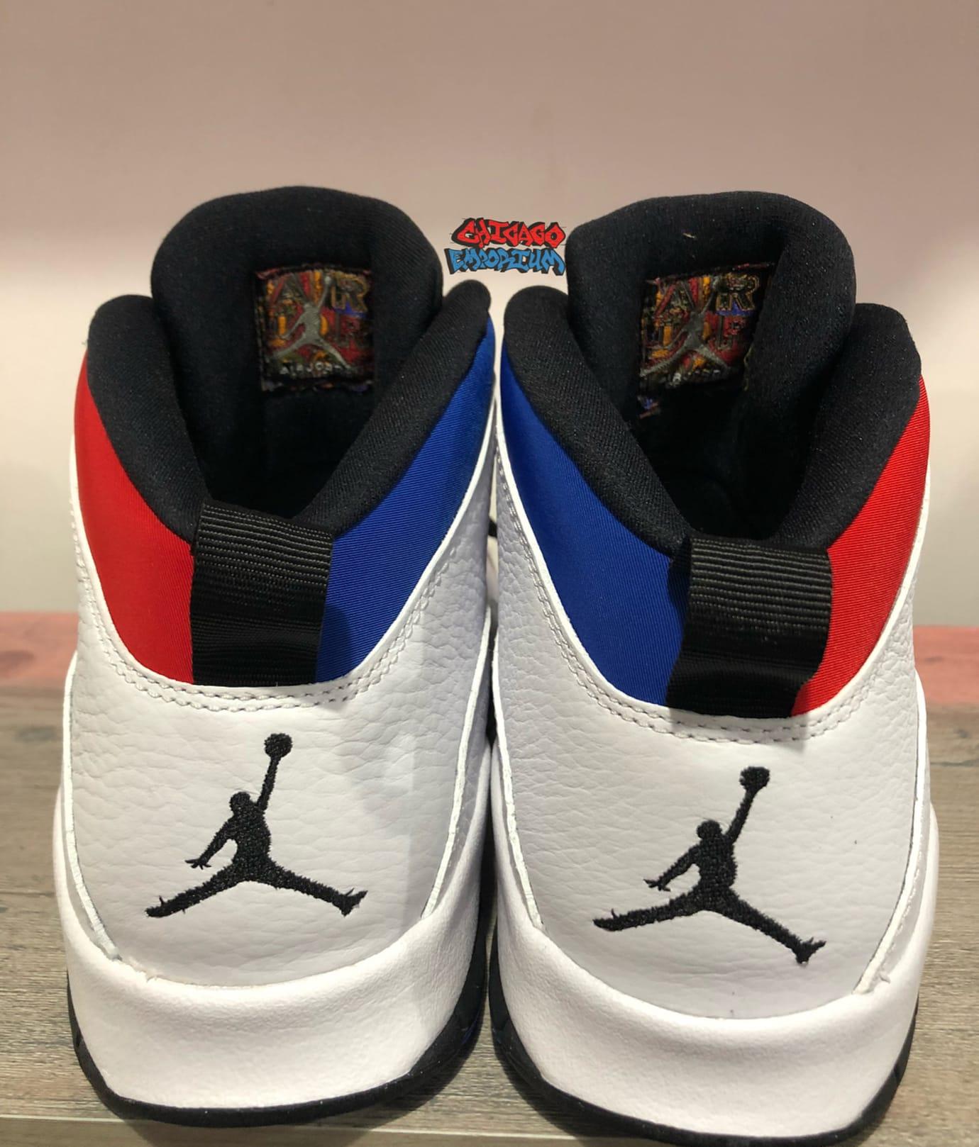 Image via Chicago Emporium · Air Jordan 10 X Westbrook Olympians Release  Date Heel 05a9d7297
