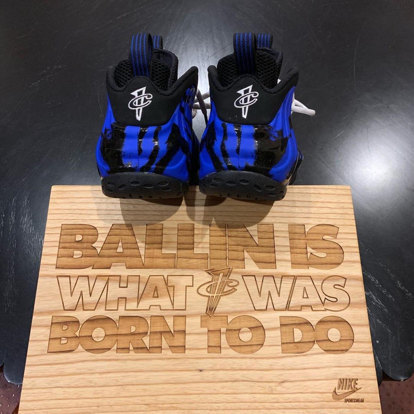 Nike Air Foamposite One Memphis Tigers Heel