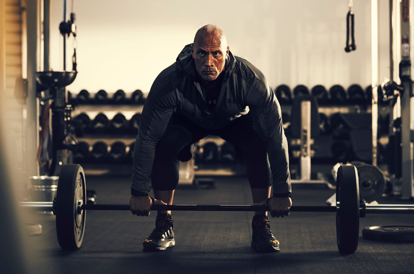 The Rock Wearing Under Armour