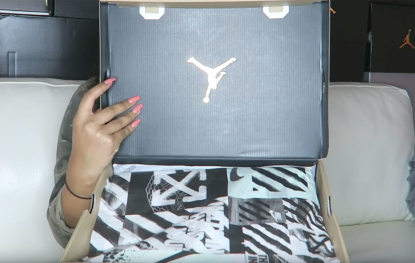 Off-White x Air Jordan 1 Retro Packaging Box Lid AA3834-101