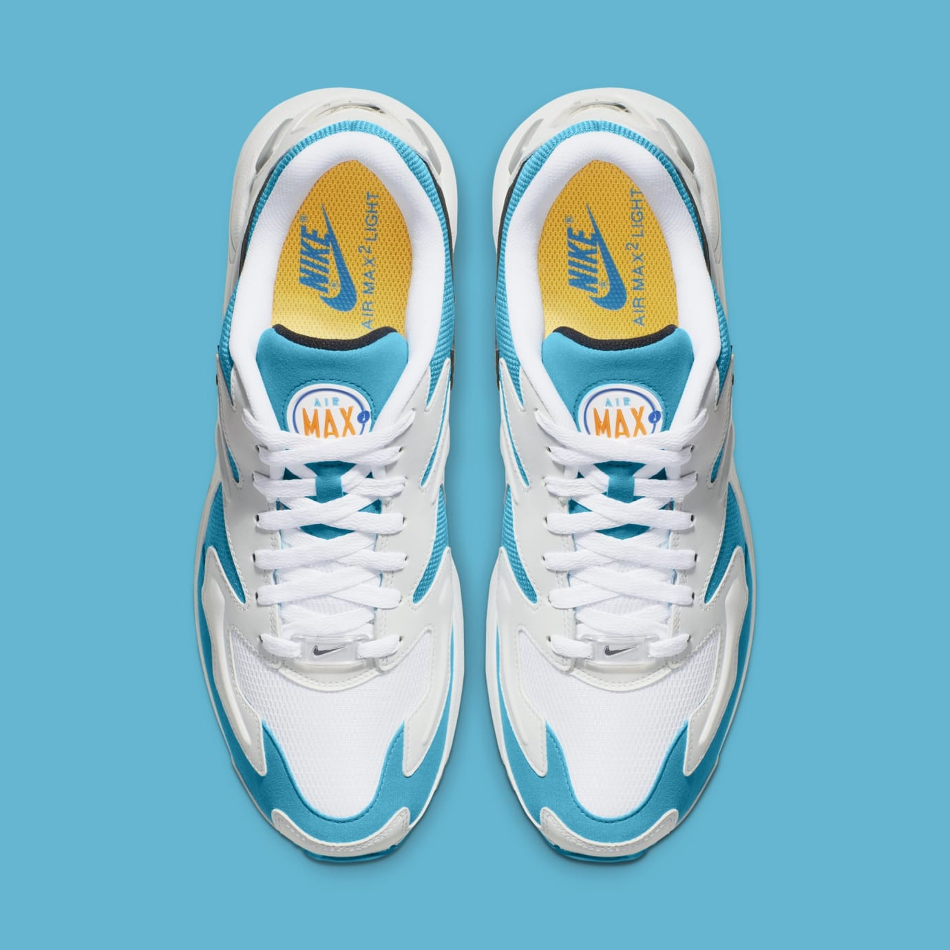 Nike Air Max2 Light 'White/Black/Blue Lagoon' AO1741-100 (Top)